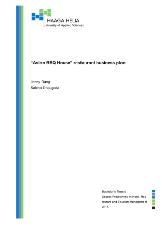 Asian BBQ House Restaurant Business Plan1