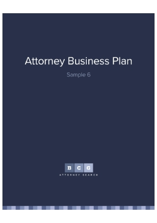 Attorney Business Plan