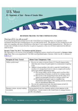 Business Visa Flyer