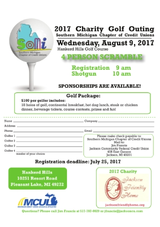 Charity Golf Flyer