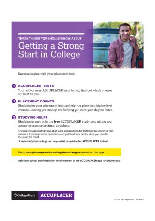 College Study App Flyer