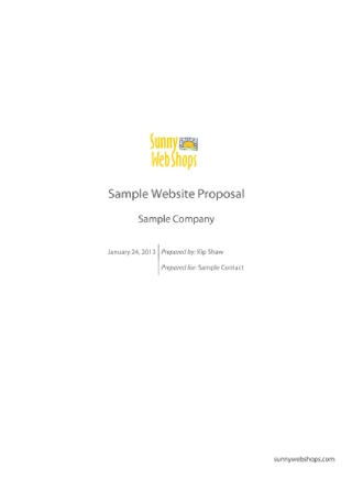 Company Website Proposal