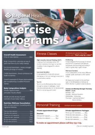 Exercise Program Flyer