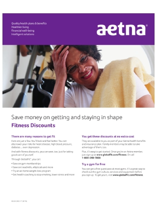 Fitness Discount Program Flyer