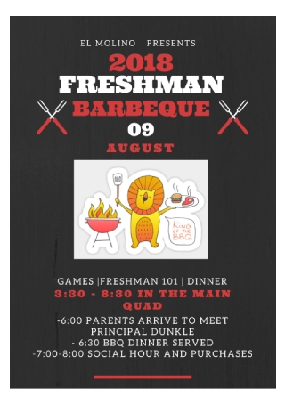 Freshman BBQ Flyer