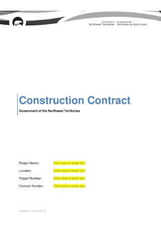 Government Construction Contract Sample
