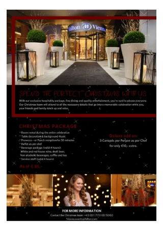 Hotel Christmas Flyer