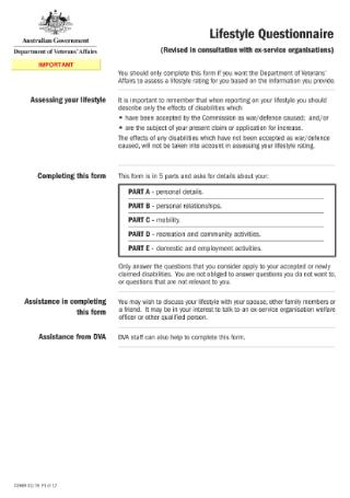 Lifestyle Questionnaire