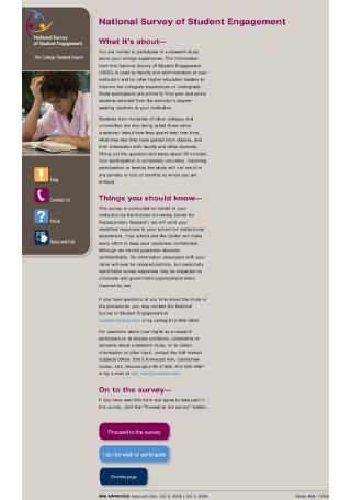 National Survey of Student Engagement