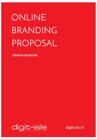 Online Business Branding Proposal