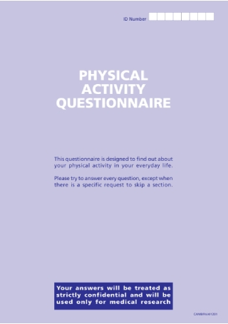 Physical Activity Questionnaire