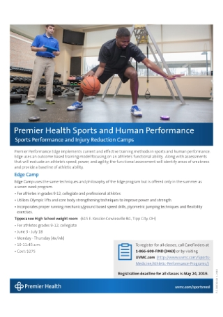 Sports Performance Flyer