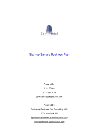 Start Up Business Plan1