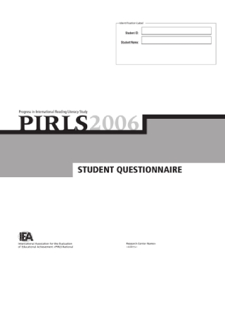 Student Questionnaire