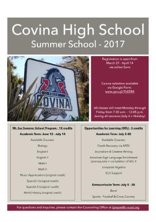 Summer School Flyer1