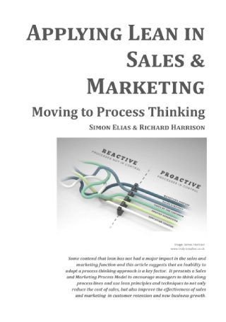 Applying Lean in Sales and Marketing