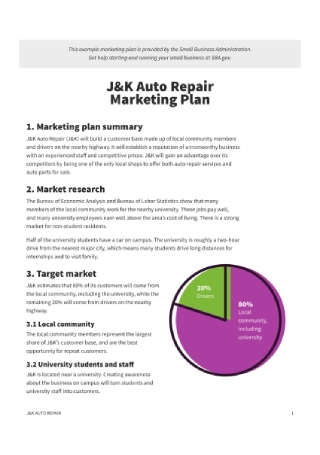 Auto Repair Marketing Plan