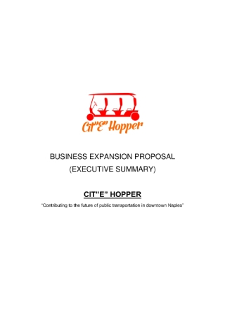 Business Expansion Proposal