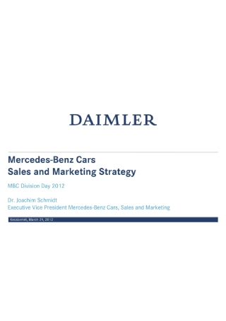 Car Sales and Marketing Strategy