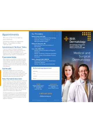 Dermatology Business Brochure
