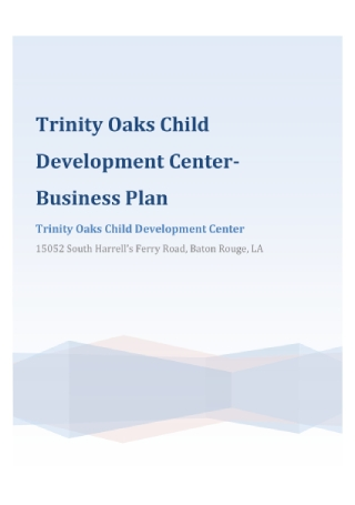 Development Center Business Plan