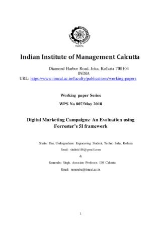 Digital Marketing Campaign Evaluation