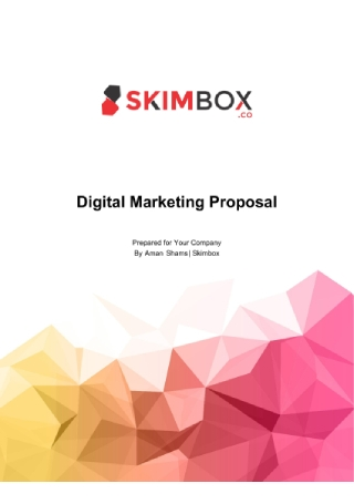 Digital Marketing Proposal1
