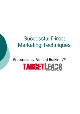Direct Marketing Techniques