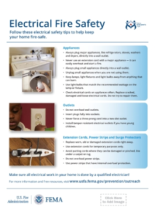 Electrical Fire Safety Flyer