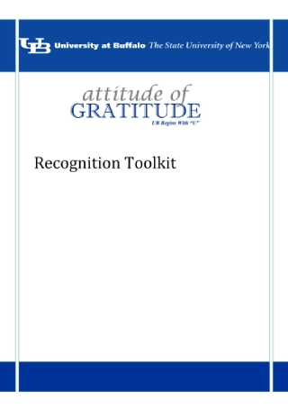 Employee Recognition Toolkit