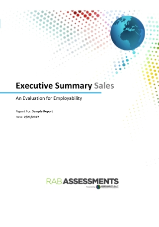 Executive Sales Summary