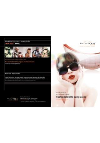Fashionable Sunglasses Brochure