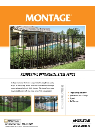 Fence Products Brochure