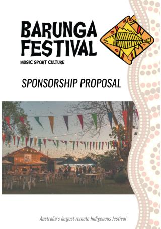 Festival Sponsorship Proposal