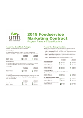 Foodservice Marketing Contract