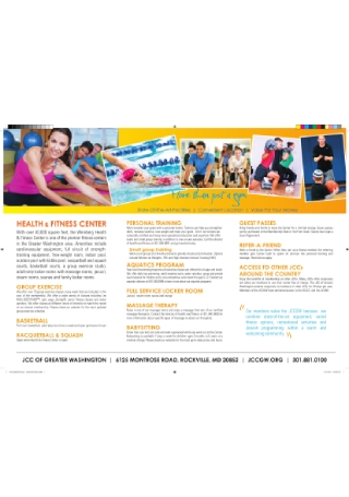 Health Fitness Brochure