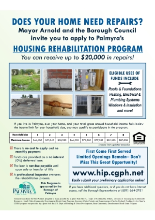 Housing Rehabilitation Program Flyer