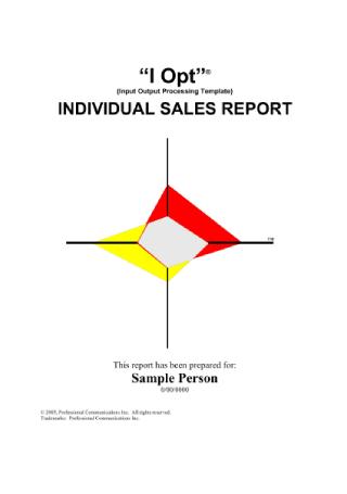 Individual Sales Report