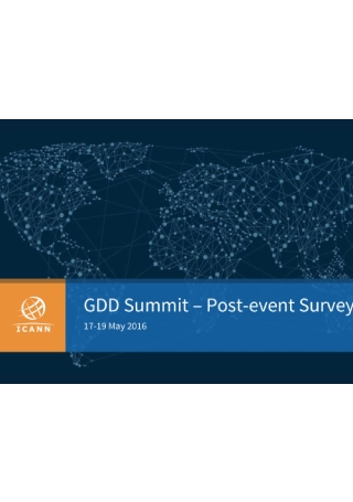 Industry Summit Post Event Survey