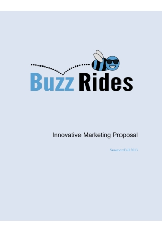 Innovative Marketing Proposal