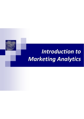 Introduction to Marketing Analytics