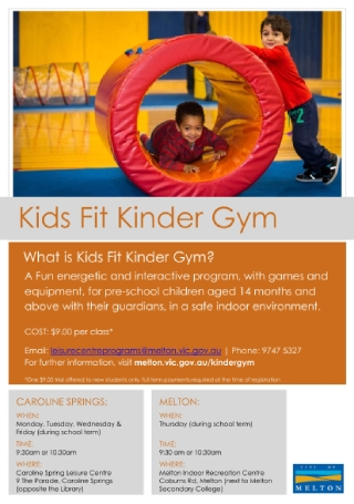 Kids Gym Flyer