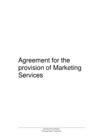 Marketing Services Agreement