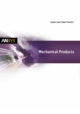 Mechanical Products Brochure