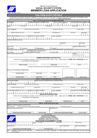 Member Loan Application