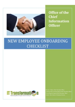 New Employee Onboarding Checklist