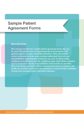 Patient Agreement Form
