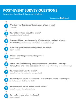 Post Event Survey Questions