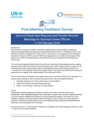 Post Meeting Feedback Survey