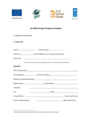 Project Proposal Application Form